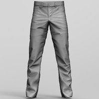 3D jeans pants denim model