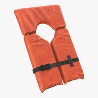 3D life jacket vest dirt