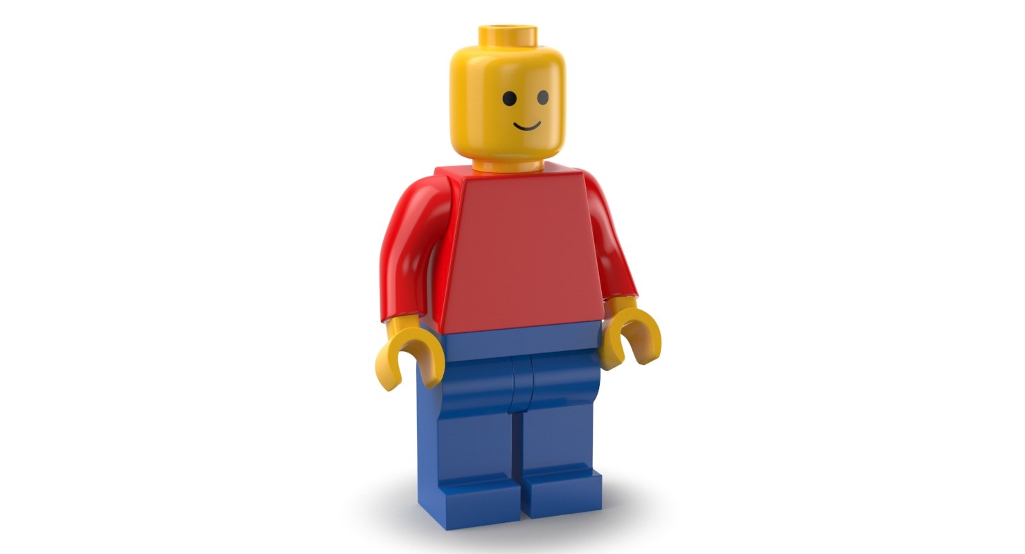 lego man 3D