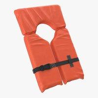 3D life jacket vest clear