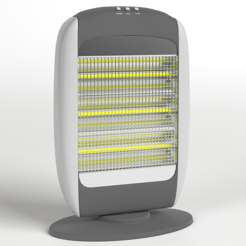 3D halogen heater model