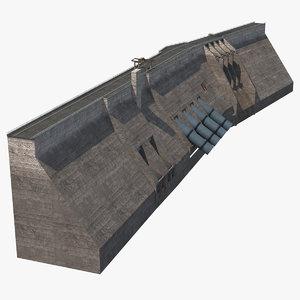 dam flow water model