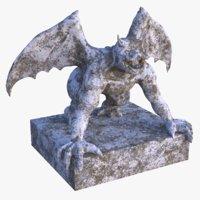 gargoyle statue pbr 3D