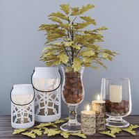 3D autumn decor set model