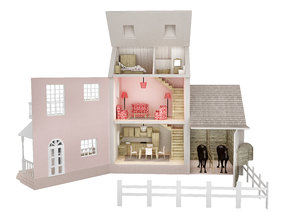 3D country dollhouse