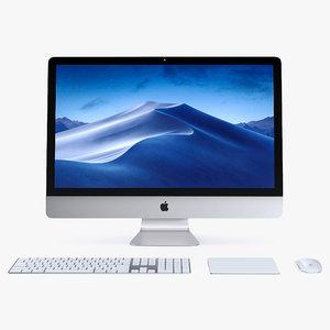 3D apple imac 2018 silver model