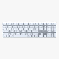 apple magic keyboard 2 3D model