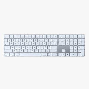 apple magic keyboard 2 3D model