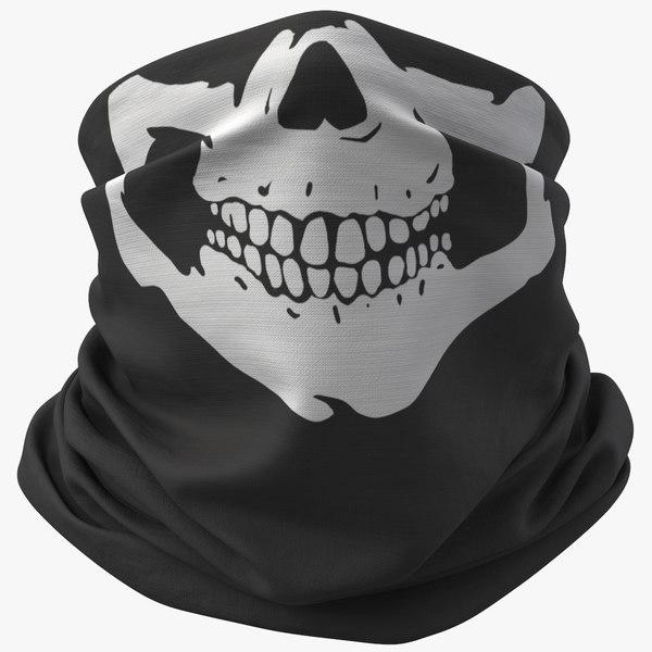 3D model realistic pbr bandana 01