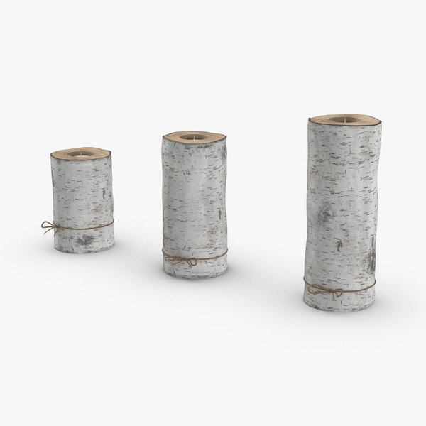 birch-tree-candle-holder- version-with-ribbon-wrapped model