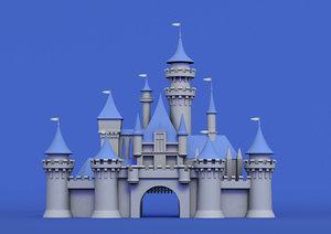 disney cinderella castle model