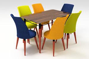 3D stork table chair