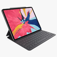 Silver Apple iPad Pro 2019 with Smart Keyboard