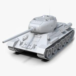 soviet untextured 3D model