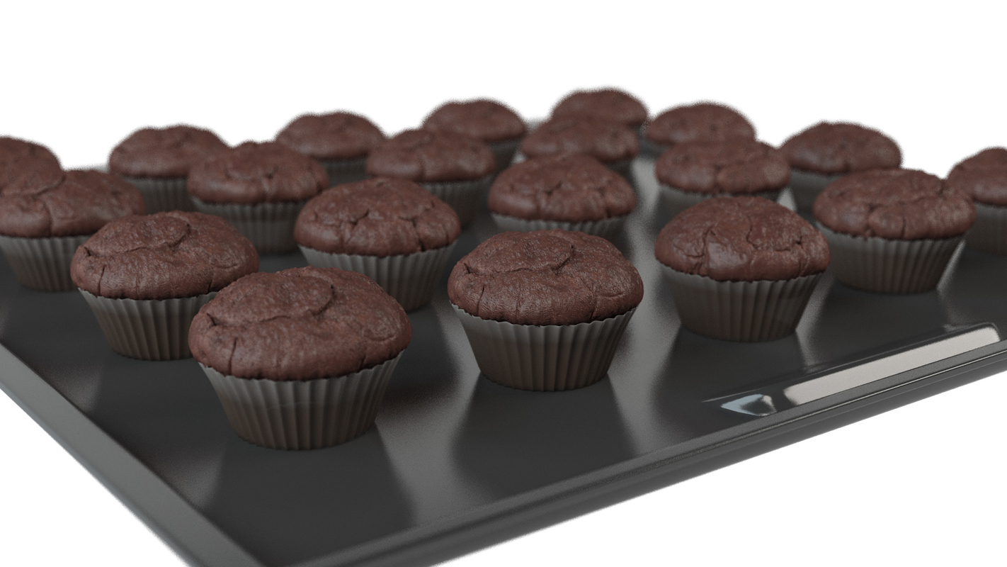 3D muffins animation