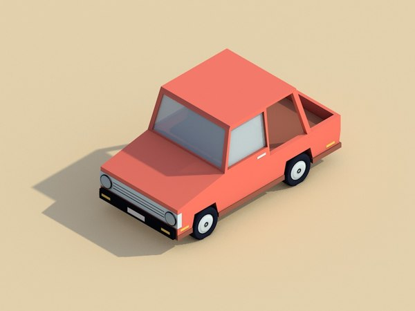 cartoon city car 3D model