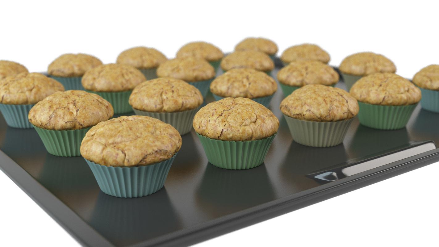 muffins bake animation 3D model