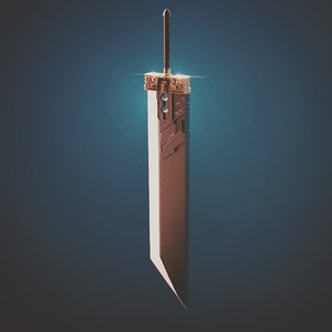 3D final fantasy 7 buster sword model