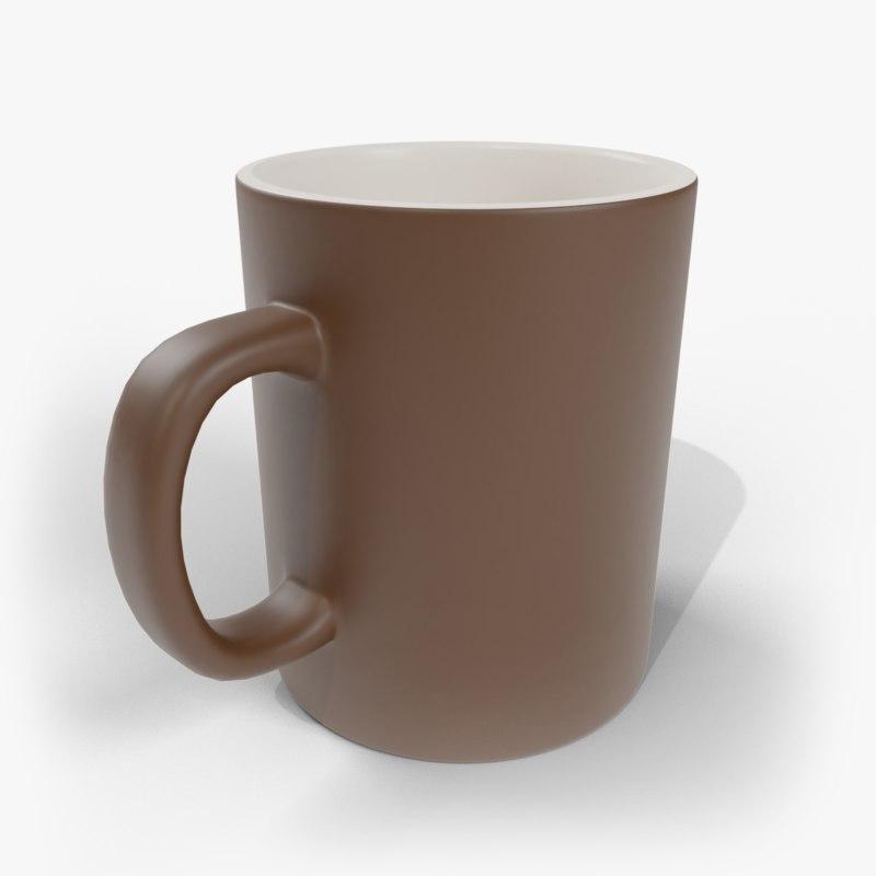 coffee mug 1 3D model
