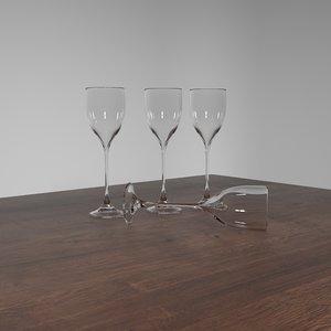 simple wine glass 3D model