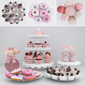 candy bar strawberries cake model