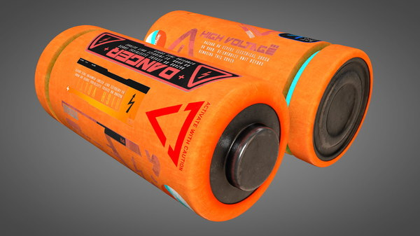 battery energy power 3D