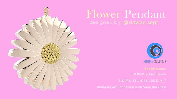 3D model flower pendant
