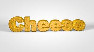 3D cheese text editable