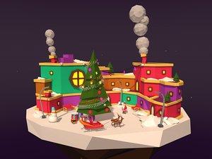illustration island asset 3D model
