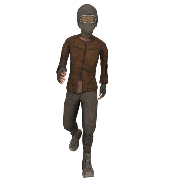 3D soldier teenager