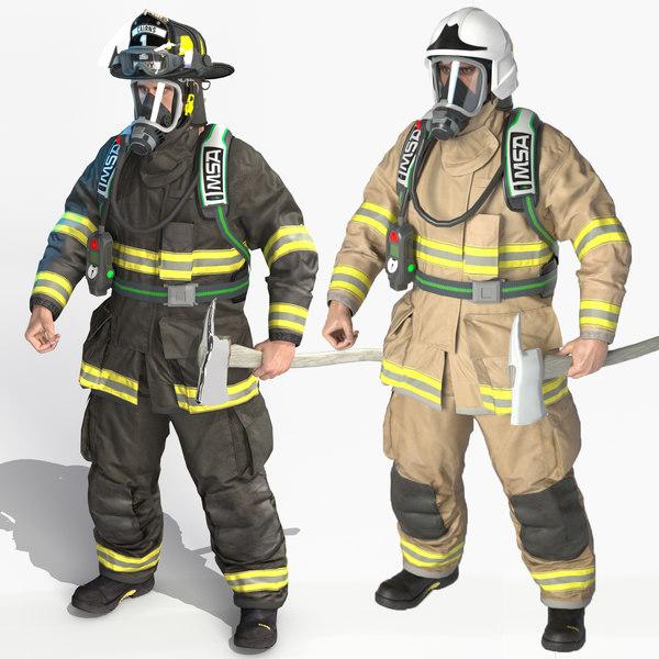 3D fireman extreme fdny model