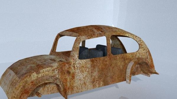 rusted car 3D model