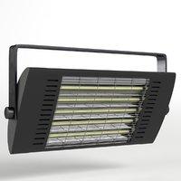 3D model wall mounted halogen heater