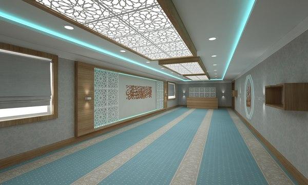 3D modern masjid build model
