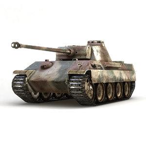 3d model german panther panzer