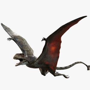 peteinosaurus rigged 3D model