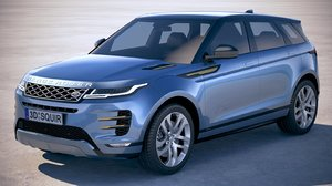 3D land rover evoque model