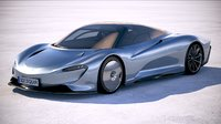 3D mclaren speedtail 2020