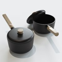 EVA SOLO Nordic Kitchen Sauce Pan 3D model