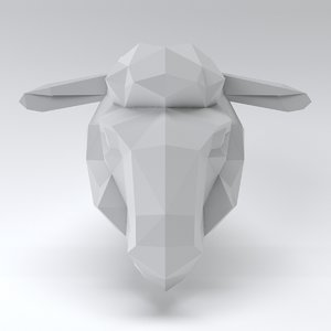 3D sheep head model