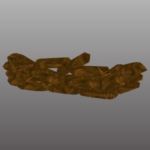 3D sandbags sand bags