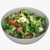 3D bowl salad model