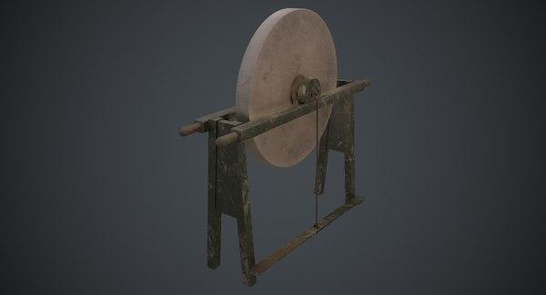 3D grindstone 1b model
