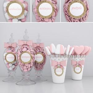 candy jars 3D model