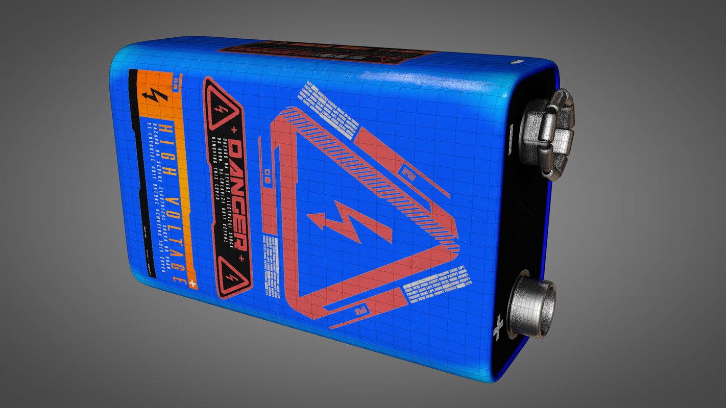 block battery 3D model