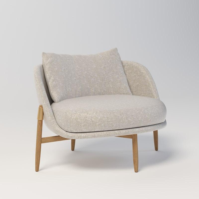 3D model heath arm chair