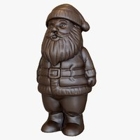 chocolate santa 3D