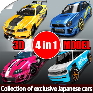 3D exclusive japanese cars