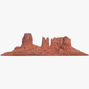 3D model sandstone butte 8