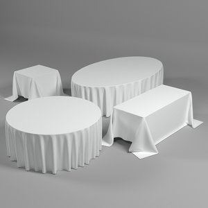 tablecloths forms table 3D model